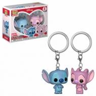 Lilo & Stitch - Pack 2 porte-clés Pocket POP! Stitch & Angel 4 cm