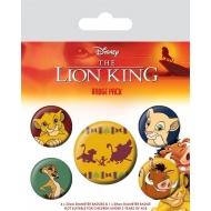 Le Roi lion - Pack 5 badges Hakuna Matata