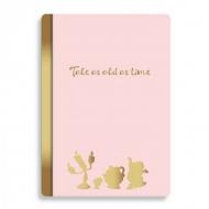 La Belle et la Bête - Cahier A5 Floral Pink