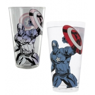 Marvel Avengers - Verre changeant de couleur Captain America
