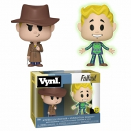 Fallout - Pack 2 VYNL figurines Adamantium Skeleton & Mysterious Stranger 10 cm