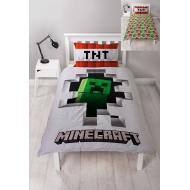 Minecraft - Parure de lit réversible Dynamite 135 x 200 cm / 48 x 74 cm