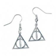 Harry Potter - Boucles d'oreille plaquées argent Deathly Hallows
