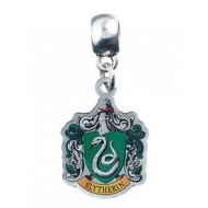 Harry Potter - Breloque plaquée argent Slytherin Crest