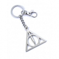 Harry Potter - Porte-clés Deathly Hallows (plaqué argent)