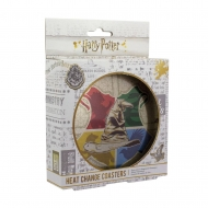Harry Potter - Pack 4 sous-verres effet thermique Sorting Hat