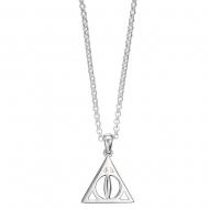 Harry Potter - Pendentif et collier argent Deathly Hallows