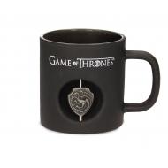 Game of Thrones - Mug 3D Rotating Logo Targaryen Black Crystal