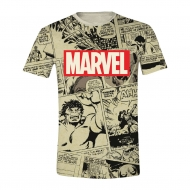 Marvel Comics - T-Shirt Sublimation Logo & Comic Panels