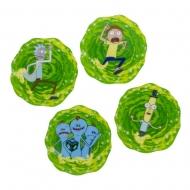 Rick & Morty - Pack 4 sous-verres 3D