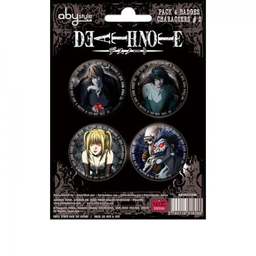 DEATH NOTE - Pack de badges - Characters 2