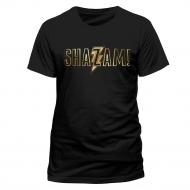 Shazam - T-Shirt Gold Foil Logo