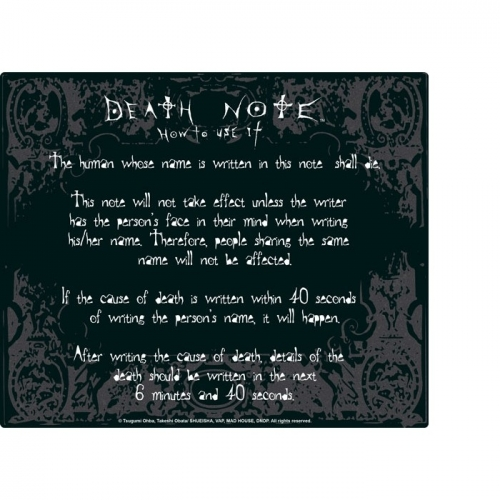 DEATH NOTE - Tapis de souris - Rules