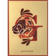 Harry Potter - Carte Quilled Gryffindor