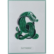 Harry Potter - Carte Quilled Slytherin