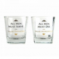 Game of Thrones - Pack 2 verres Valar Dohaeris et Valar Morghulis