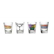 Retour vers le Futur - Set 4 verres à liqueur Logo & Symbols
