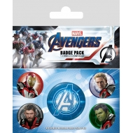 Avengers : Endgame - Pack 5 badges Quantum Realm Suits