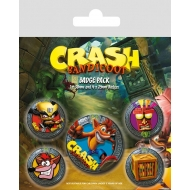 Crash Bandicoot - Pack 5 badges Pop Out
