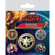 Captain Marvel - Pack 5 badges Patches