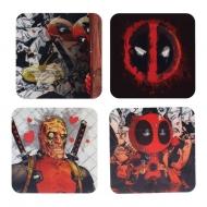 Deadpool - Pack 4 sous-verres 3D