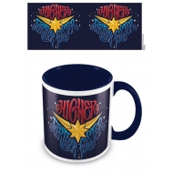 Captain Marvel - Mug Coloured Inner Higher Further Faster