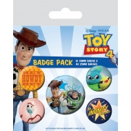 Toy Story 4 - Pack 5 badges Friends for Life