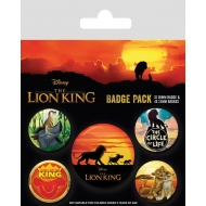 Le Roi Lion - Pack 5 badges Life of a King