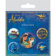 Aladdin - Pack 5 badges A Whole New World