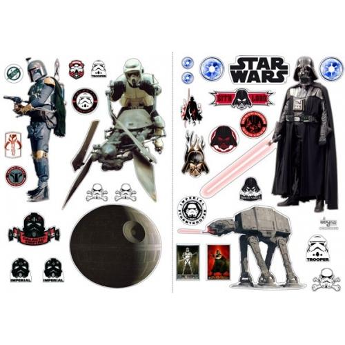 STAR WARS - Planche de stickers muraux L'empire