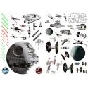 STAR WARS - Stickes 100x70cm - Bataille spatiale