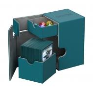 Ultimate Guard - Boîte pour cartes Flip'n'Tray Deck Case 100+ taille standard XenoSkin Bleu Pétrole