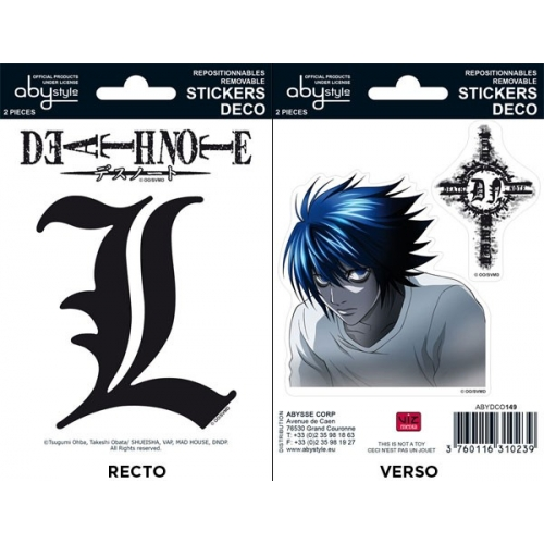 DEATH-NOTE - Planche de mini-stickers (16 X 11cm)