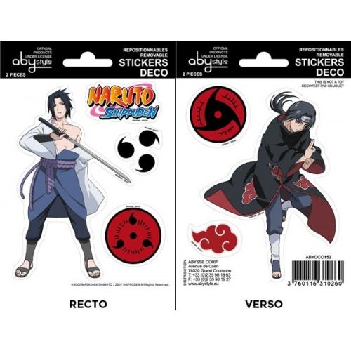 NARUTO SHIPPUDEN - Planche de mini-stickers (16x11) -  SASUKE / ITACHI