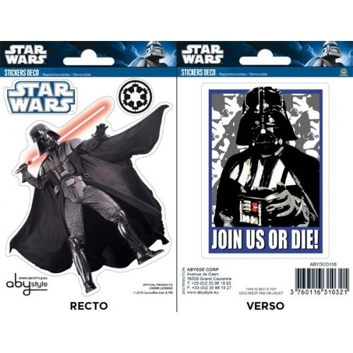 STAR WARS - Planche de mini-stickers (16x11) - Vador