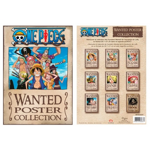 ONE PIECE - Portfolio 9 affiches Wanted (21x29,7)