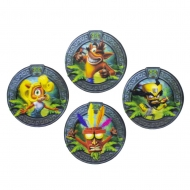 Crash Bandicoot - Pack 4 sous-verres 3D Crash Bandicoot