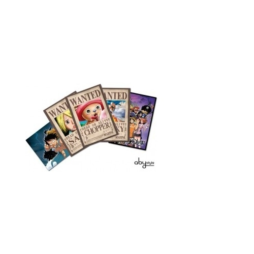 ONE PIECE - Cartes postales - Set 3 Chopper Wanted & Co