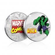 Marvel - Pièce de collection Hulk (plaqué argent)