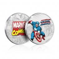 Marvel - Pièce de collection Captain America (plaqué argent)