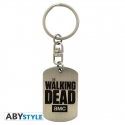 THE WALKING DEAD - Porte-clés Plaque militaire logo