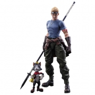 Final Fantasy VII Advent Children - Figurines Play Arts Kai Cid Highwind & Cait Sith 9 et 27 cm