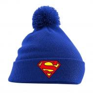 DC Comics - Bonnet Superman Pom Pom Logo bleu