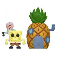 Bob l'éponge - Figurine POP! Bob l'Eponge & Pineapple 9 cm