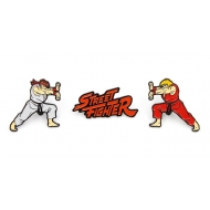 Street Fighter - Pack 3 pin's Ken, Ryu & Logo