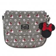 Disney - sac à bandoulière Minnie Head & Flower Print By Loungefly