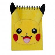 Pokemon - Cahier peluche à spirale A5 Pikachu