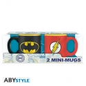 DC COMICS -  Set 2 mini-mugs - 110 ml - Batman & Flash x2