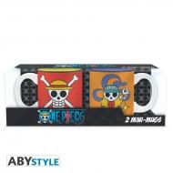 ONE PIECE - Set 2 mini-mugs Luffy & Nami emblèmes