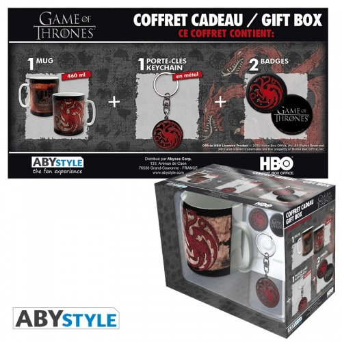 GAME OF THRONES - Pack Mug + Porte-clés + Badges